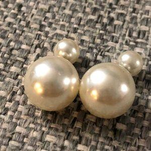 Pearl-Back Earrings